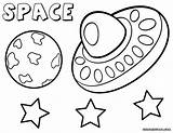 Space Coloring Pages Ship Print sketch template