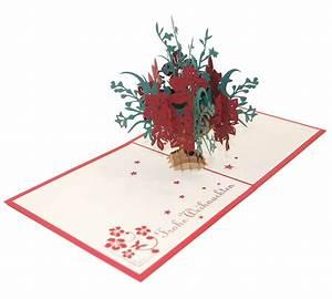 Blumen Zu Weihnachten : pop up blumen zu weihnachten 3d kartenwelt ~ Eleganceandgraceweddings.com Haus und Dekorationen