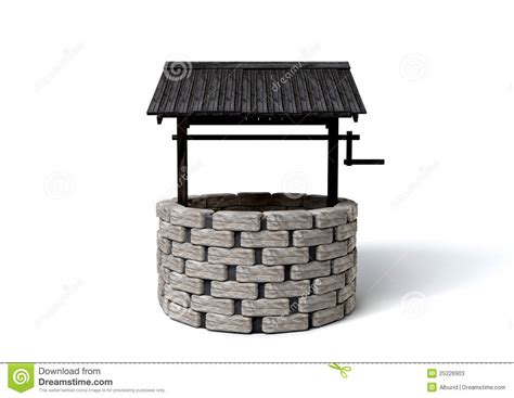 Wishing Well stock illustration. Image of brick, borehole