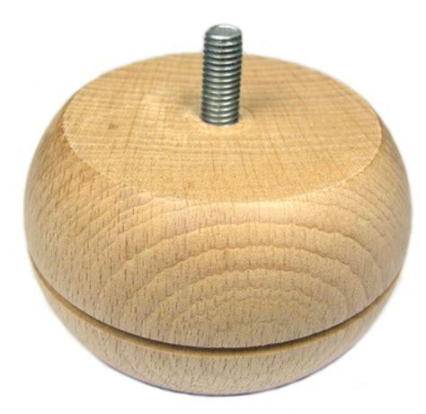 pied de le boule pied de meuble bois boule rainur 233 216 86 mm h 234 tre naturel h 50 mm