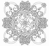 Coloring Paisley Pages Square Mandala Printable Deviantart Adult Abstract Adults Easy Mandalas Colouring Books Flower Pattern Patterns Sheets Drawings Getcoloringpages sketch template