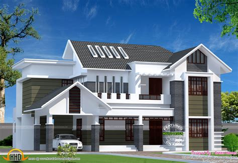 House Style : Sq-ft Modern Kerala Home-kerala Home Design And