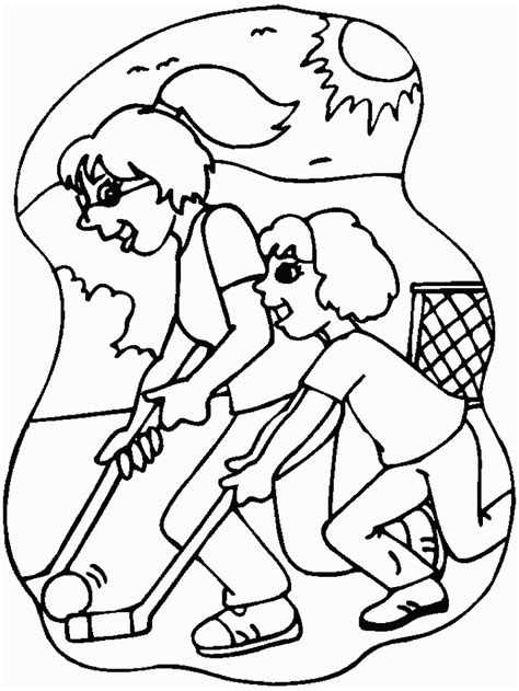 Kleurplaat As Hockey by Hockey Coloring Pages Coloringpages1001