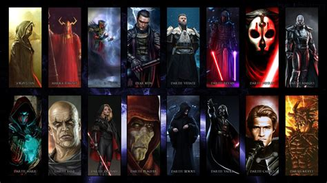 Star Wars Darth Maul Wallpaper Great Sith Over The Ages By Hyperion127 On Deviantart