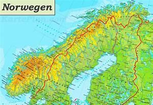 Deutschland Physische Karte : physische landkarte von norwegen ~ Watch28wear.com Haus und Dekorationen