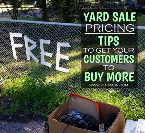 yard sale pricing yard sale pricing tips to get your customers to buy more food life design