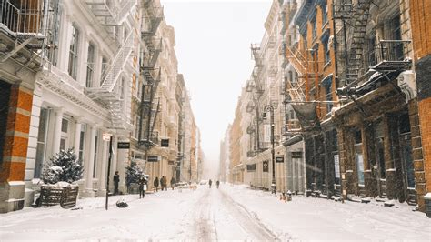 Winter New York Wallpaper 1920x1080 by Wallpaper New York In Winter Snow Buildings Usa