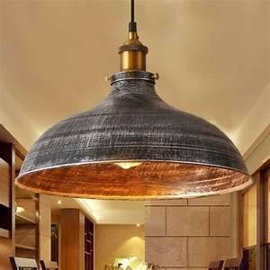 Retro, Vintage, Industrial, Pendant, Light, Ceiling, Lamp, Rustic, Shade, Barn, Fixture, 615855049069
