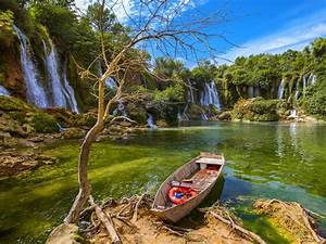 Waterfall, Kravice, In, Bosnia, And, Herzegovina, Beautiful, Nature, Wallpaper, Hd, For, Desktop, 3840x2400