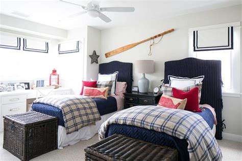blue  red nautical bedrooms design ideas