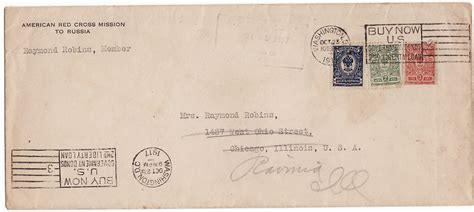 for letter russia allied intervention mike white worldwide postal Postage