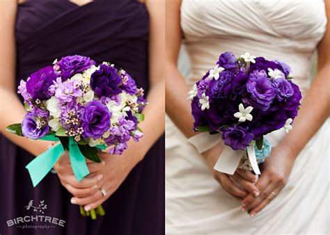 Purple And Teal Wedding Details