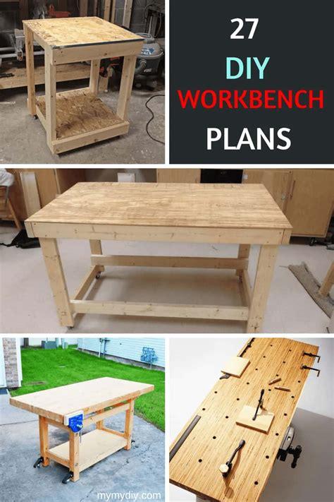 sturdy diy workbench plans ultimate list mymydiy