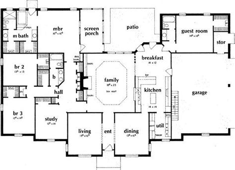 bedroom ranch style house plans  home plans design