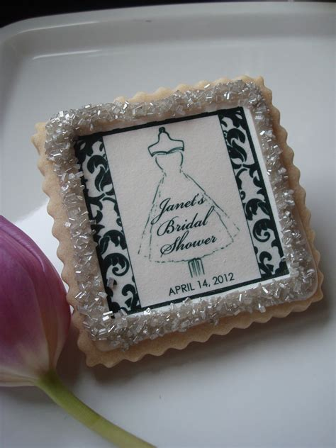 bridal shower cookie favors personalized bridal shower cookie favor damask