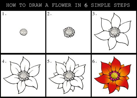 how to draw a flower step by step daryl hobson artwork how to draw a flower step by step