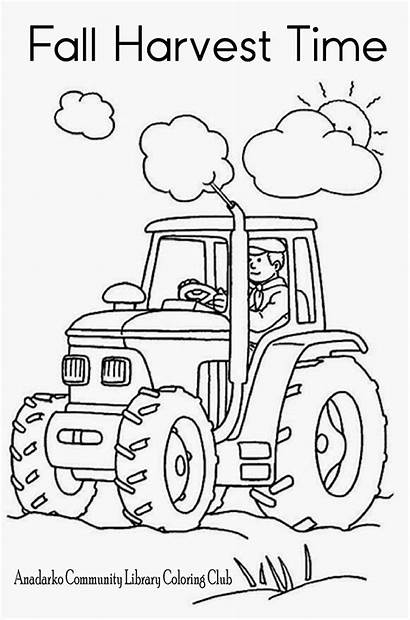 Coloring Harvest Pages Library Sheets Club Colouring