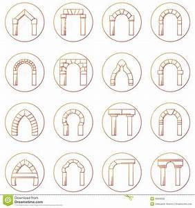 Sketch Icons Collecion Of Different Types Arch Stock Photo ...