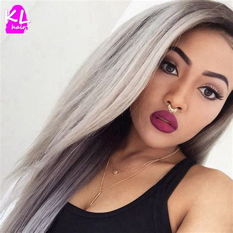 1bgrey Straight Hair Two Tone Ombre Peruvian Virgin Hair