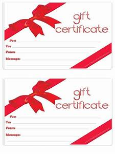 holiday gift certificate template free printable - free gift certificate template customizable