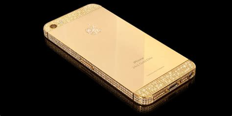 gold phone luxury iphone5s in real gold platinum luxuryvolt