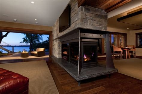 Substantial Two Room Fireplace