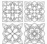 Foil Aluminum Coloring Stencils Wood Burning Patterns Tiles Tin Talavera sketch template