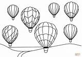 Coloring Air Balloons Pages Balloon Simple Printable Print Drawing sketch template
