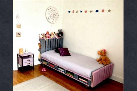 chambre palette bois meubles en palettes le bois recyclable pour votre confort