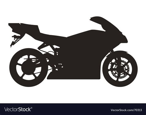 Sport Motorcycle Silhouette Royalty Free Vector Image