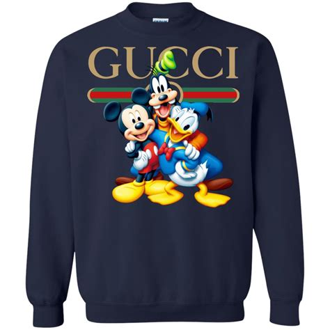 gucci gang disney mickey pluto  donald sweatshirt