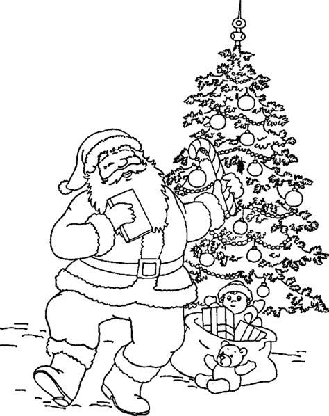 Kerstman En Kerstboom Kleurplaat by Leuk Voor De Kerstman Bij De Kerstboom