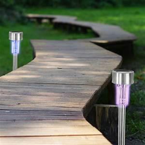 Lampe Mit Farbwechsel : 4er set garten solar stick lampe mit farbwechsel fernbedienung trade4less ~ Orissabook.com Haus und Dekorationen
