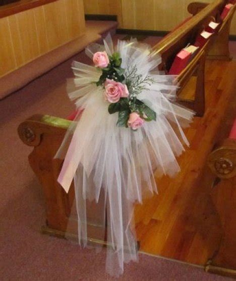 tulle church decorations diy wedding decorations and bows