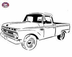 ilustracion lineart clasico 1956 ford recoleccion With 1955 ford f100 rat