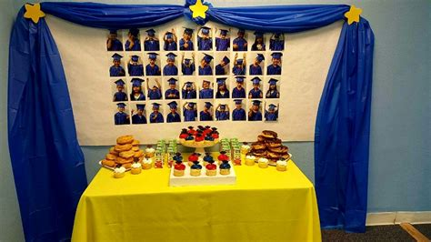 simple preschool graduation refreshment table with picture 495 | ea4f8cc79a0e09a633b2aeed22004169