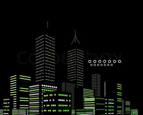 night modern city vector abstract background stock