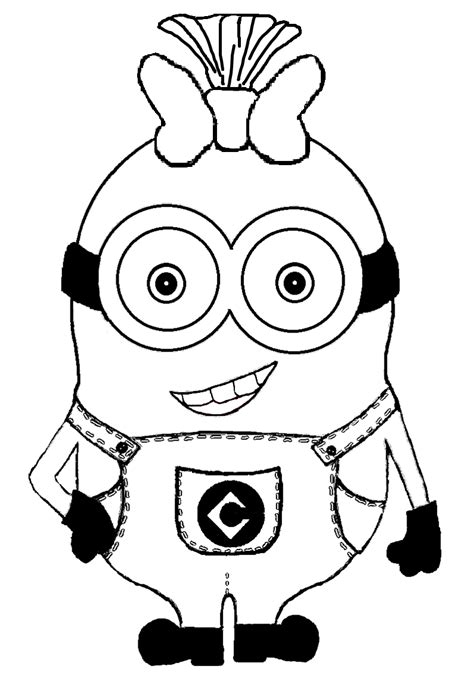 minioncoloring pages  girls coloring home