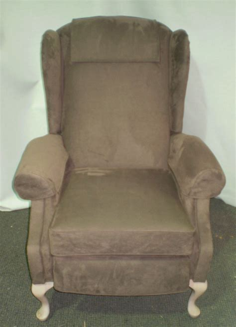 reclining cing chairs australia melbourne upholsterer reupholstered 2 lovely wing chair