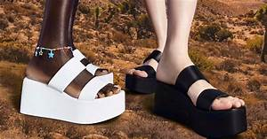thick platform sandals in black leopard and white