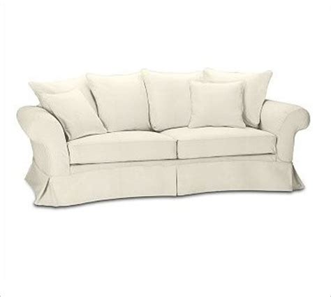 charleston grand sofa slipcover chunky herringbone ivory