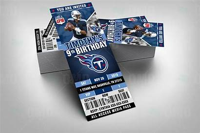 Tennessee Titans Sports Invitations Ticket Football Party