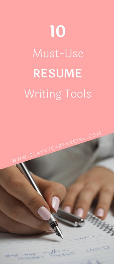 Resume Writing Tools by 12 Must Use Resume Writing Tools Career