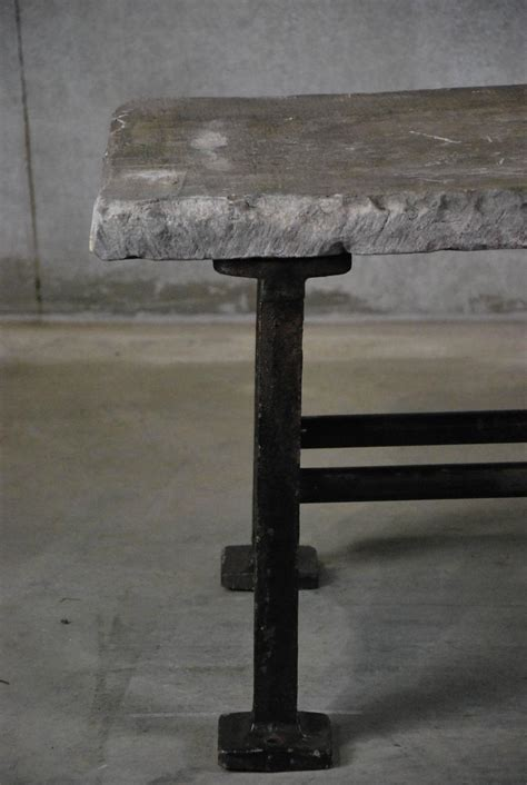 top coffee table with cast iron base for sale at 1stdibs