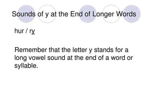 ppt sounds of y at the end of longer words powerpoint