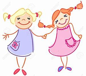Two Friends Hugging Clipart collection 3