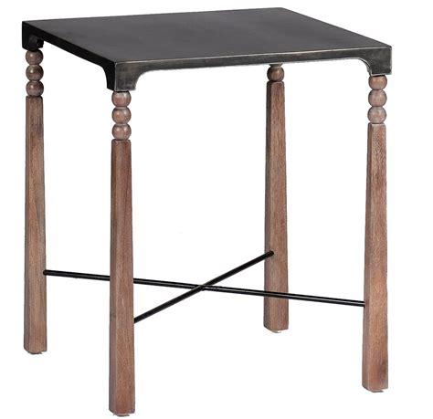black metal end table andrew ceruse oak black metal bobbin side end table