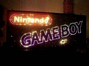 Nintendo Gameboy Neon Fiber Optic Sign for sale