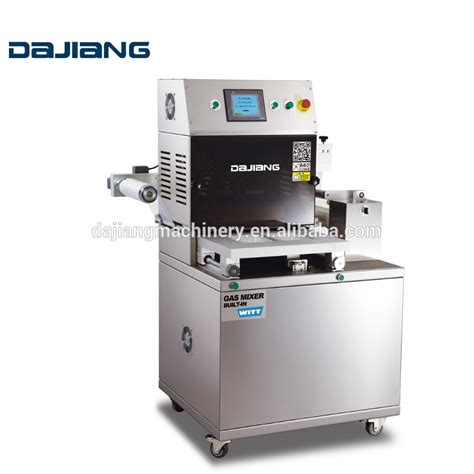 dajiang high quality modified atmosphere packing machine automatic food tray vacuum nitrogen