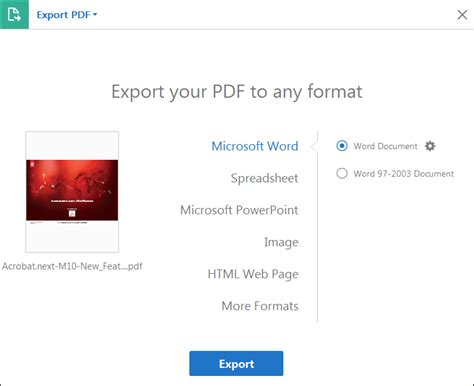 Convert Or Export Pdfs To Other File Formats, Adobe Acrobat
